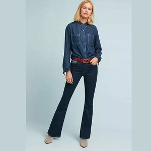 Anthropologie Levi's Embroidered Denim Jeans 27